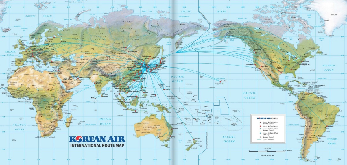 Korean Air Increases Frequency to Americas and Southeast Asia ... on independence air route map, russian air route map, saudi air route map, tap air portugal route map, jamaica air route map, direct air route map, asiana route map, aegean route map, tiger air route map, air astana route map, singapore air route map, air zimbabwe route map, cargolux route map, air niugini route map, ethiopian air route map, airasia route map, air tahiti route map, envoy air route map, island air route map, ba cityflyer route map,